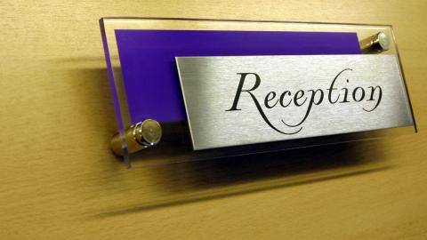 office door signs personalised nameplates, chrome and acrylic and
