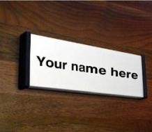 Architectural Custom Door Signs in Aluminium