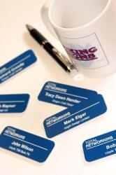 Delegate Name Badges With Pin Or Magnetic Fastening