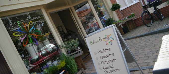 Shop Signs for Helen's Flowers in Grantham