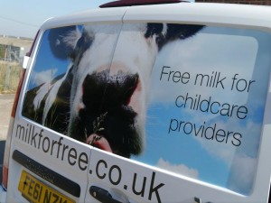 Fleet Van Stickers for Grantham Business Scotts