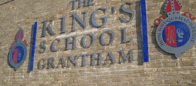 Sign for King's School Grantham