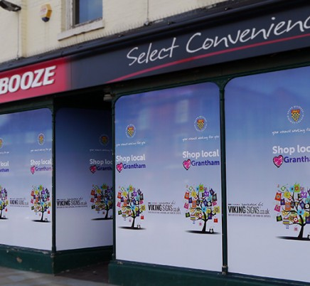 Grantham Shop Wrap replaces Bargain Booze