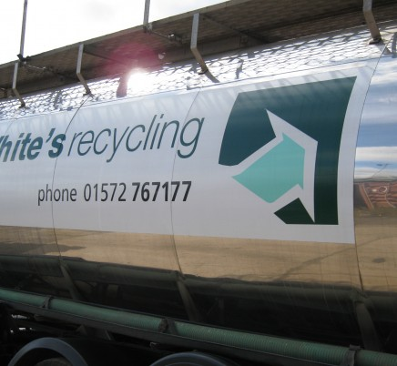White Recycling Fleet Graphics