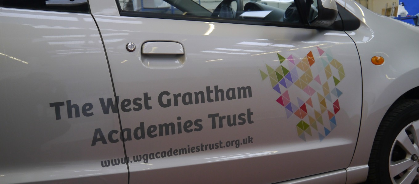 Vehicle Graphics for West Grantham Academies Trust