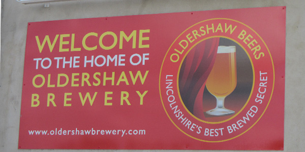 A new sign designed for lincolnshire business Oldershaw Brewery